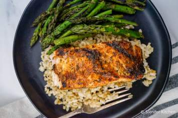 Cajun Salmon with an easy homemade seasoning made with spices you already have in your pantry that can be baked, broiled, pan seared, or grilled. This healthy dinner is ready in less than fifteen minutes and as good as any restaurant version.