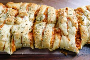 Lightened Up Chicken Parmesan Croissant Bread