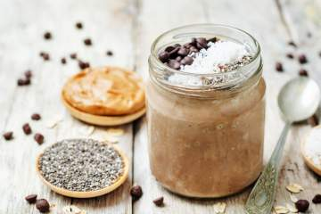 Chocolate Peanut Butter Chia Seed Pudding