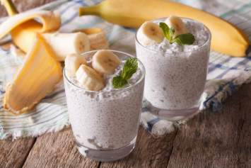 Coconut Chia Pudding with Banana made with just 5 ingredients and no added sugar is a creamy, sweet treat that works for breakfast or dessert. It's filling, nutritious, and sweetened with only natural banana.