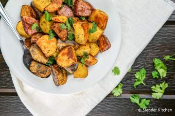 Easy Roasted Potatoes are the perfect side dish for any meal, ready in just 20 minutes with ingredients you already have in your pantry.