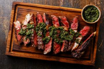 Grilled Sirloin Steak with Chimichurri