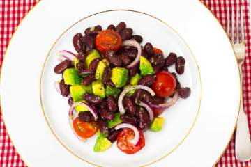 Avocado, Black Soybean, and Tomato Salad