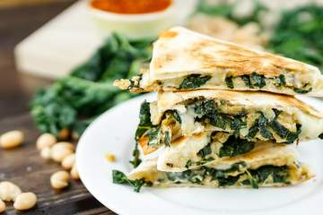 Rosemary White Bean and Kale Quesadillas