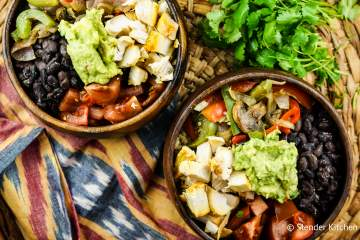 Rotisserie Chicken Fajita Bowls with Cilantro Lime Quinoa