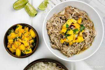 Slow Cooker Jerk Chicken is sweet, spicy, and seriously delicious plus it's healthy and all the hard work is done by your crockpot.