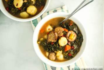 Slow Cooker Vegetarian Sausage and Gnocchi Soup
