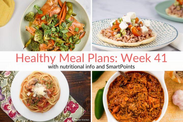 Healthy Meal Plans Week 41