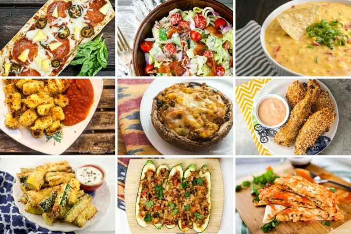 Healthy superbowl recipes for dips, appetizers, wings, and more.
