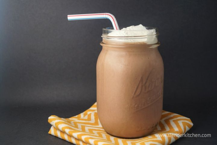 Lower Carb Chocolate Peanut Butter Smoothie