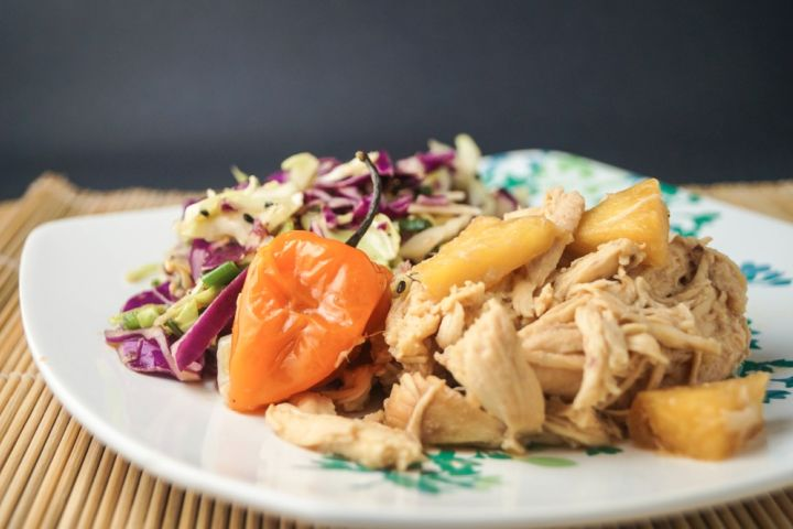 Low Carb Slow Cooker Hawaiian Chicken