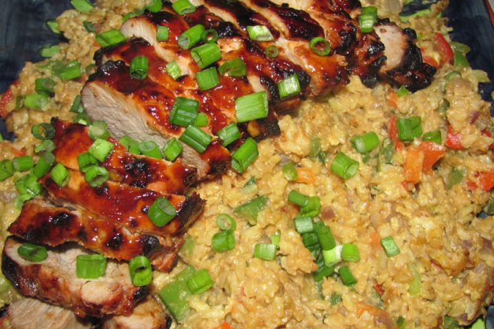 Grilled Asian BBQ Pork Tenderloin