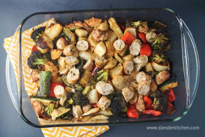 Sausage, Potato, and Veggie Bake