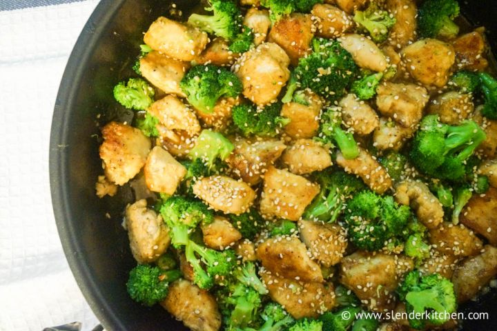 Low Carb Sesame Chicken and Broccoli