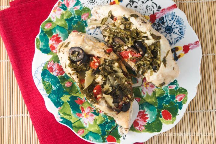 Sunday Slow Cooker: Greek Stuffed Chicken Breasts