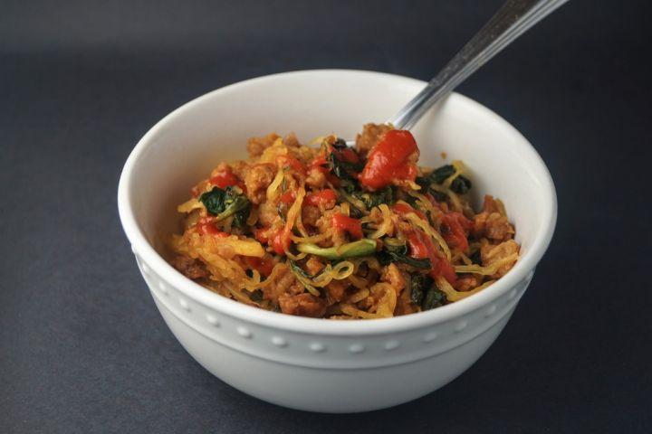 Spicy Asian Spaghetti Squash