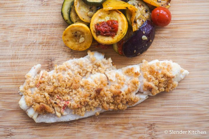 Baked (or Grilled) Haddock with Seafood Stuffing