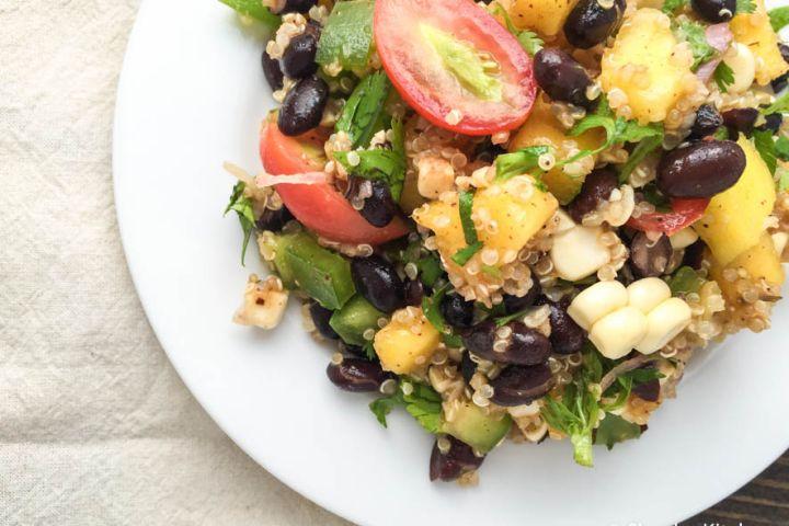 Black Bean, Mango, and Quinoa Salad