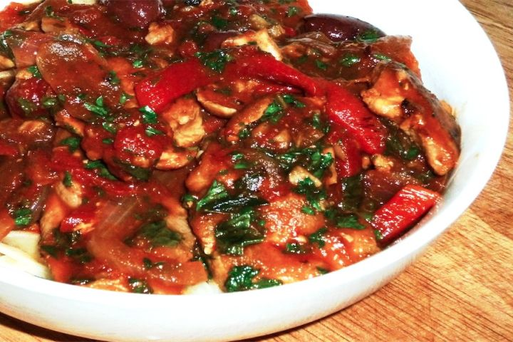 Sunday Slow Cooker: Chicken Cacciatore
