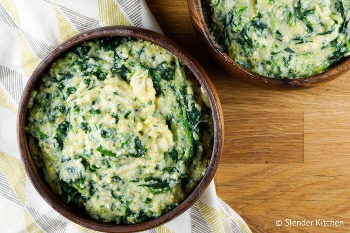 Creamy Spinach Polenta