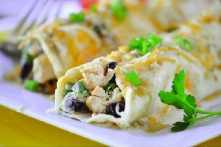 Easy Green Chicken Enchiladas