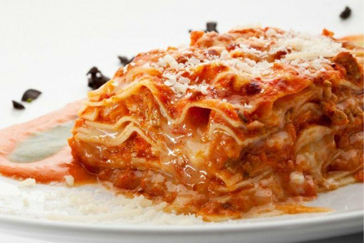 Five Ingredient Chicken Parmesan Lasagna (Slow Cooker or Stove)