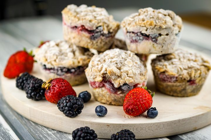 Frozen Oatmeal Cups are a healthy, make ahead breakfast that take no time to heat up on a busy morning and will keep you full all morning.