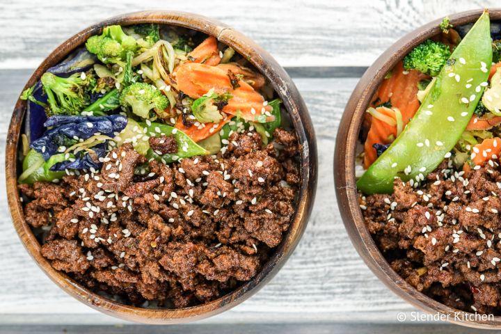 Vegetarian Korean Bowls Slender Kitchen