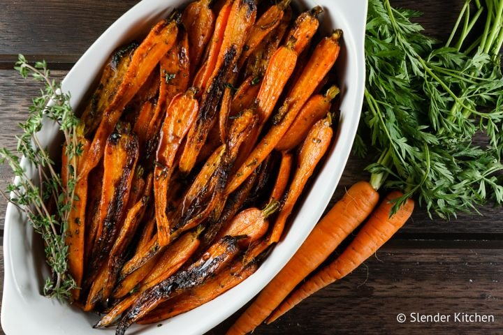 Honey Balsamic Carrots with Thyme