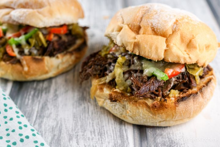 Instant Pot Beef Drip Sandwiches (or Slow Cooker)