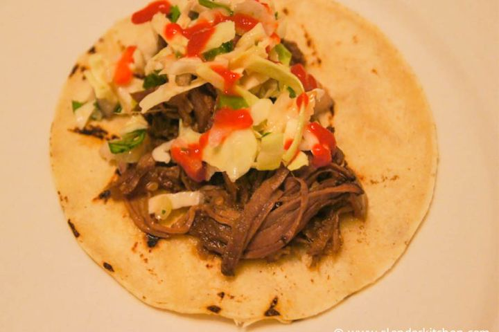 Slow Cooker Korean Beef Tacos