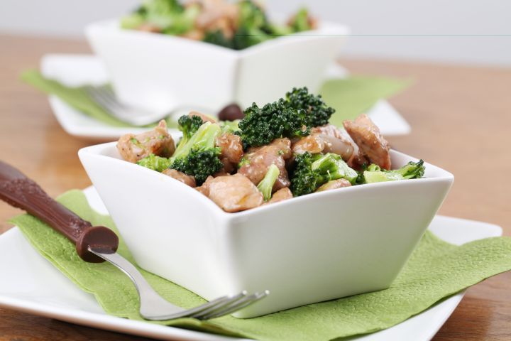 Lower Carb Chicken and Broccoli Stir Fry