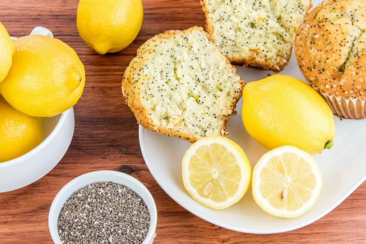 Low Carb Lemon Chia Seed Muffins