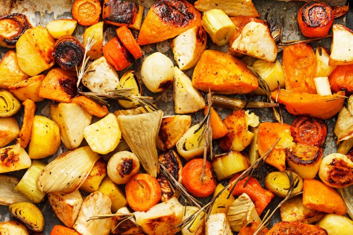 Lower Carb Roasted Root Vegetables