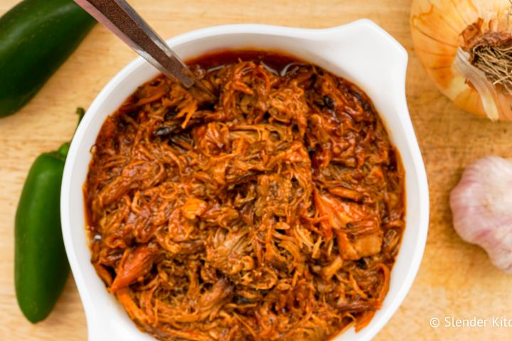 Low Carb Slow Cooker Spicy Pulled Pork