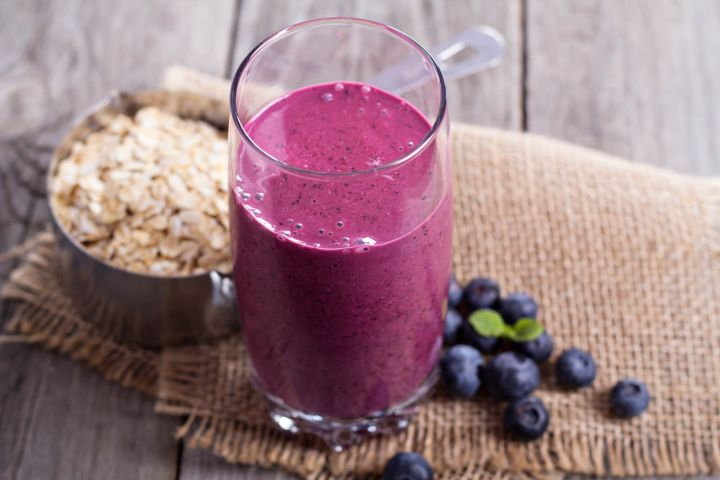 Oatmeal smoothies can be made with your favorite combination of fruits, oats, and milk for a filling and healthy breakfast that is ready in minutes.