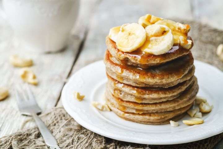 Protein Packed Oatmeal Banana Pancakes