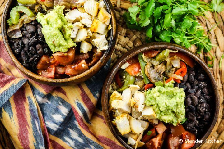 Rotisserie Chicken Fajita Bowls with Cilantro Lime Quinoa