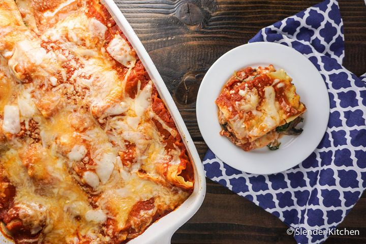 Spicy Sausage, Spinach, and Mushroom Lasagna & Giveaway