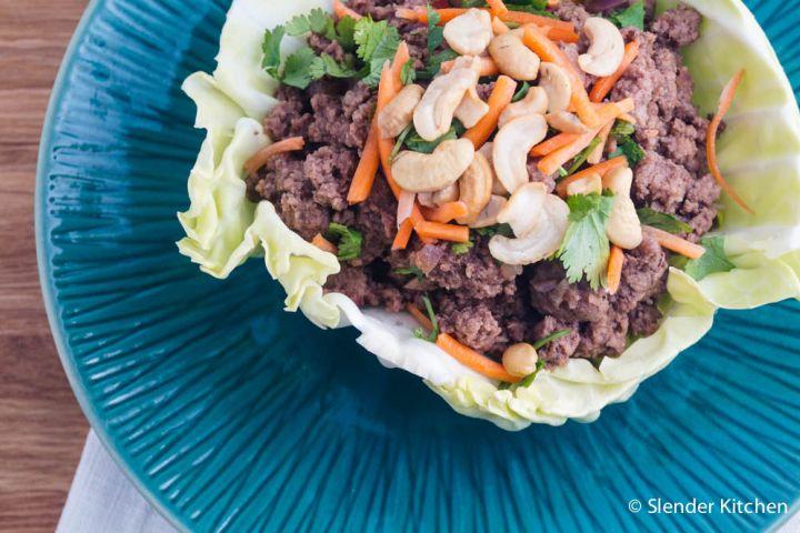 Thai Beef Cabbage Wraps