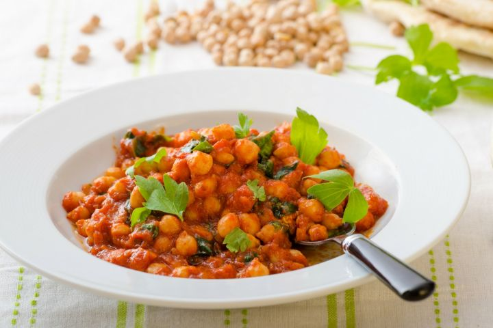 Tomato and Coconut Curry Chickpea Stew