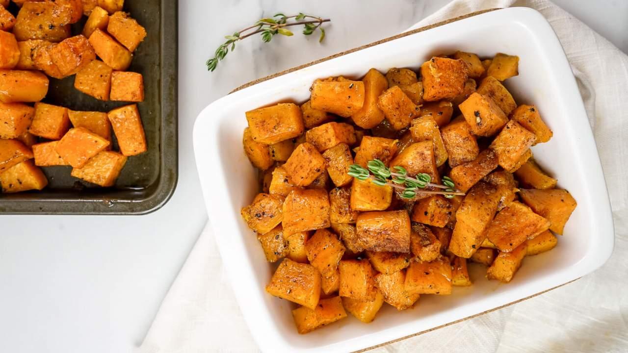 Cinnamon Roasted Butternut Squash Slender Kitchen