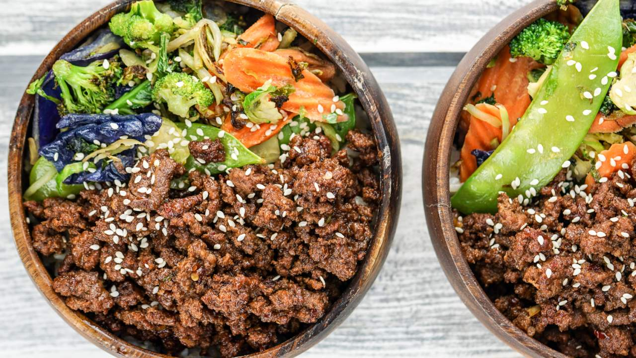 Healthy Korean Ground Beef With Vegetables Slender Kitchen