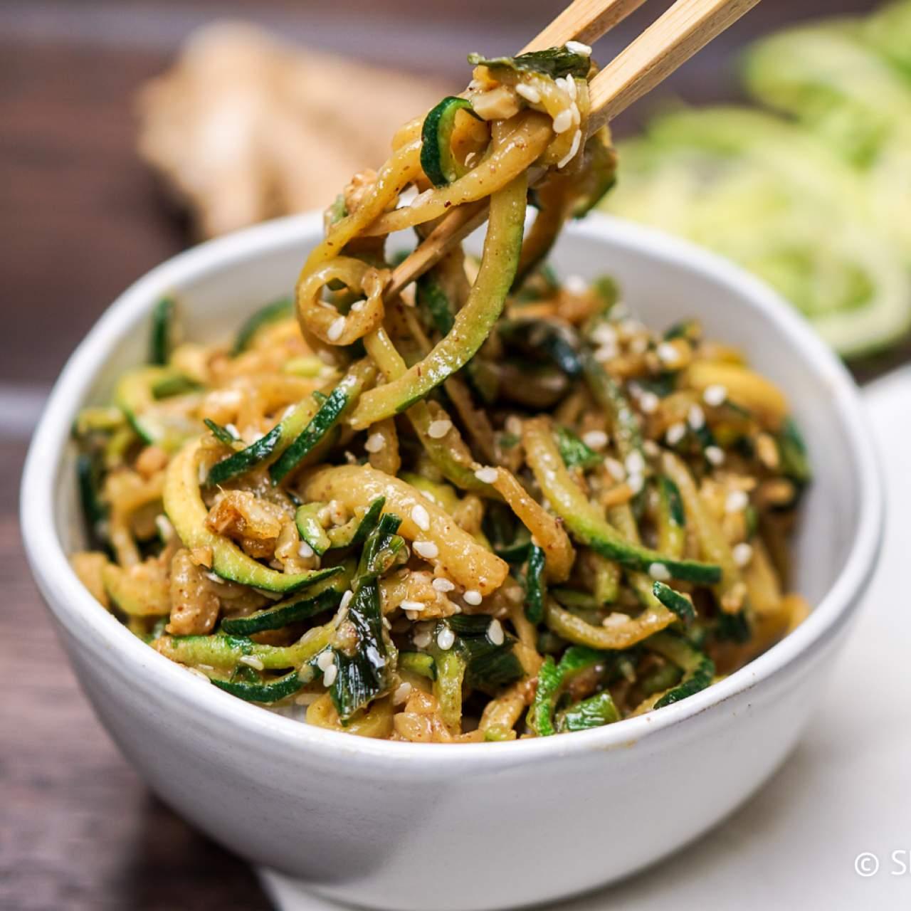 Asian Zucchini Noodles Slender Kitchen