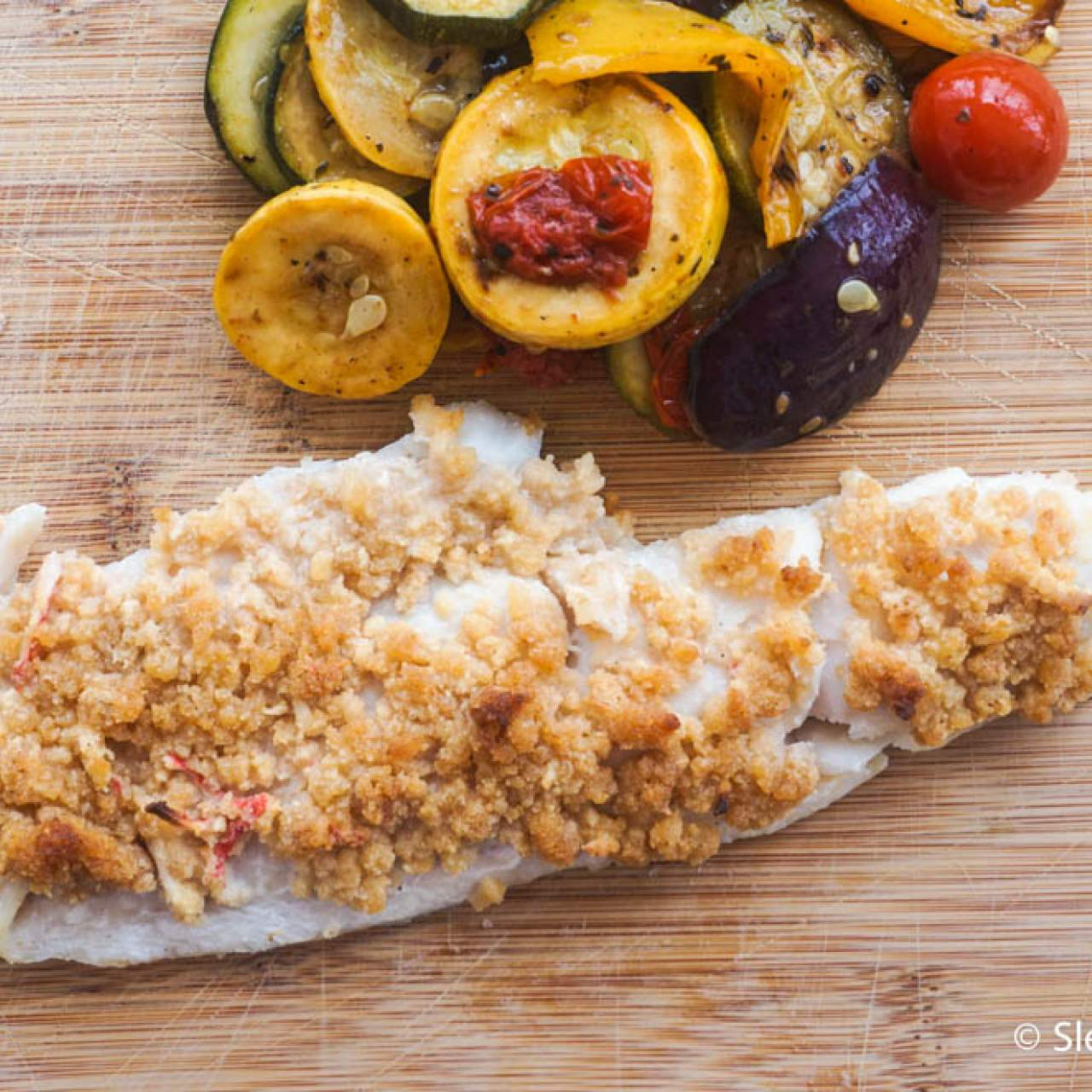 Baked Haddock With Seafood Stuffing