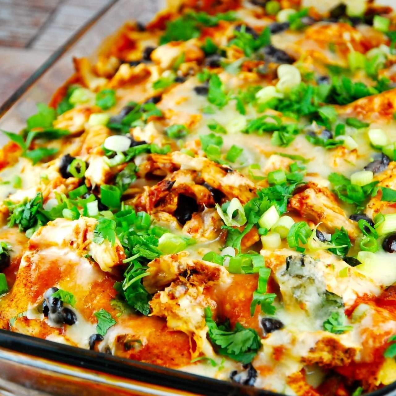 Chicken Enchilada Casserole Slender Kitchen