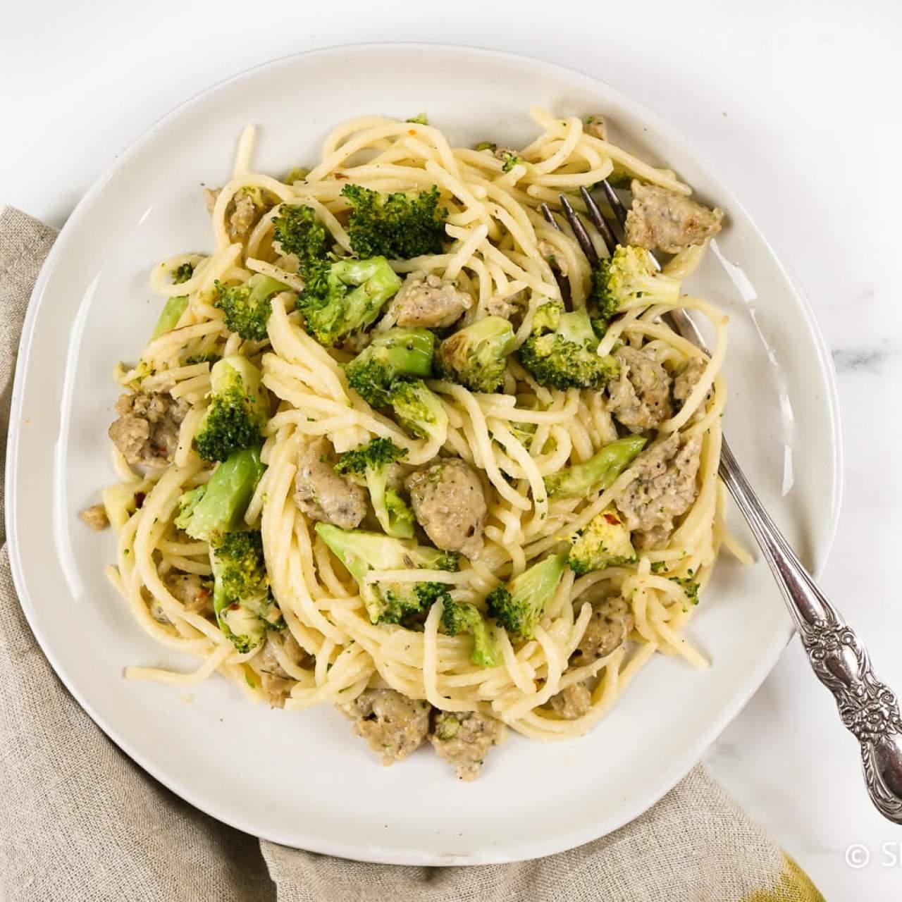 Chicken Sausage Pasta With Broccoli Slender Kitchen