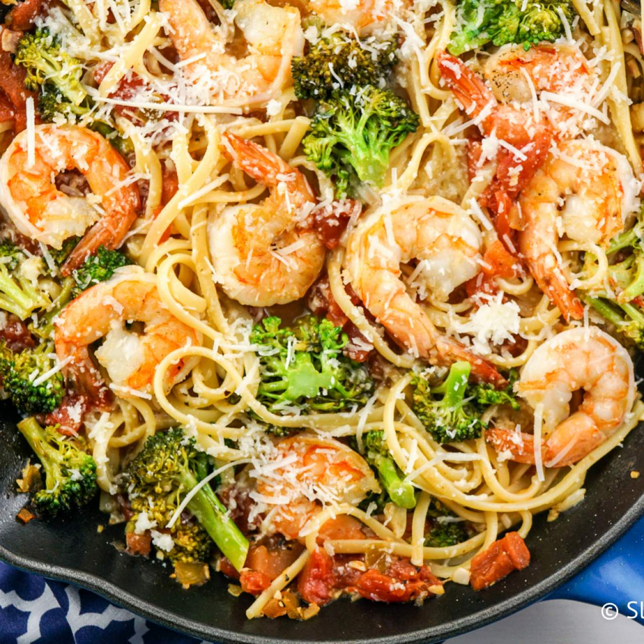 Lemon and Broccoli Pasta with Shrimp