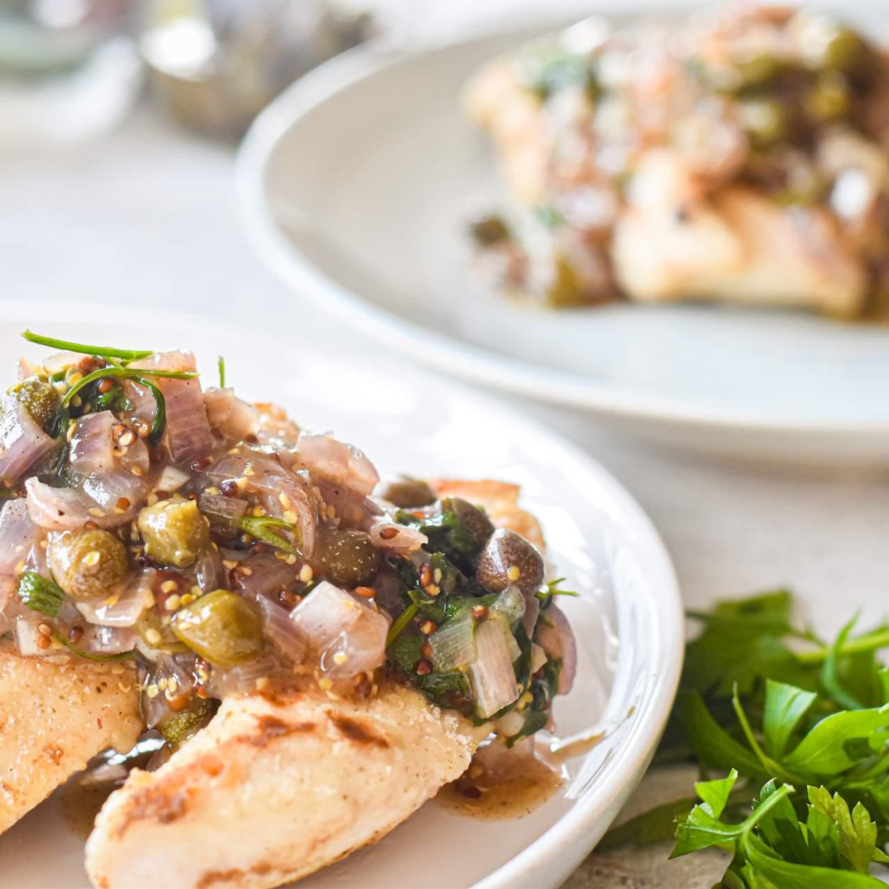 Healthy Chicken Piccata Slender Kitchen
