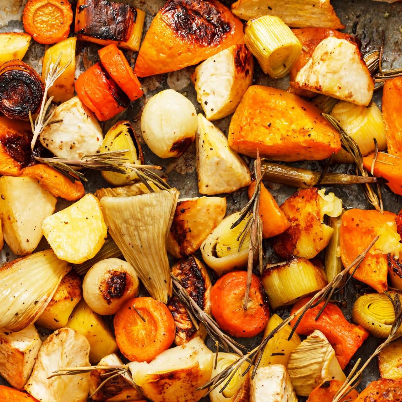 Lower Carb Roasted Root Vegetables Slender Kitchen